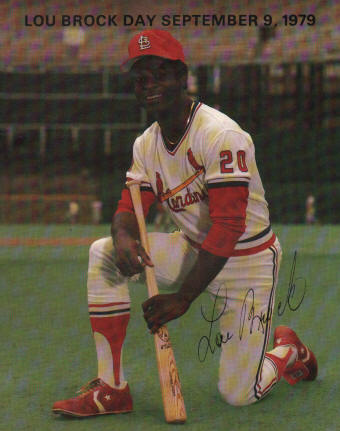 1979 Lou Brock Day - Busch Stadium (SGA)
