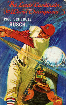 1968 St. Louis Cardinals Pocket Schedule