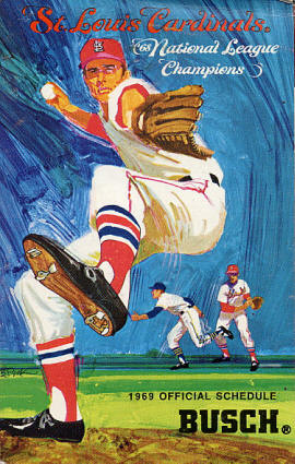 1969 St. Louis Cardinals Pocket Schedule