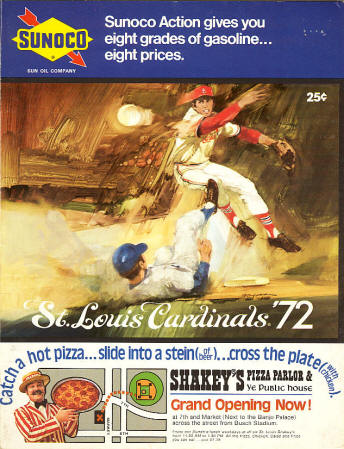 1972 St. Louis Cardinals Scorecard