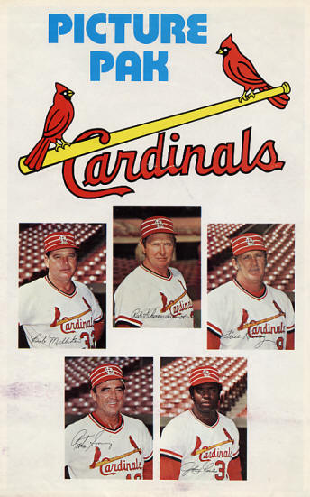 1977 St. Louis Cardinals Picture Pac (SGA)