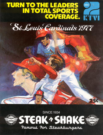 1977 St. Louis Cardinals Scorecard