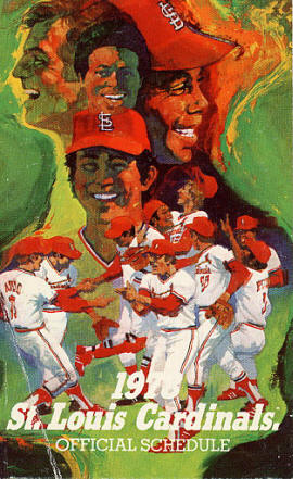 1978 St. Louis Cardinals Pocket Schedule