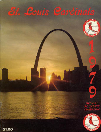 1979 Official Souvenir Magazine - St. Louis Cardinals