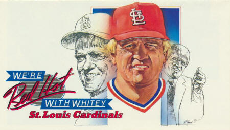 1982 St. Louis Cardinals Schedule front cover