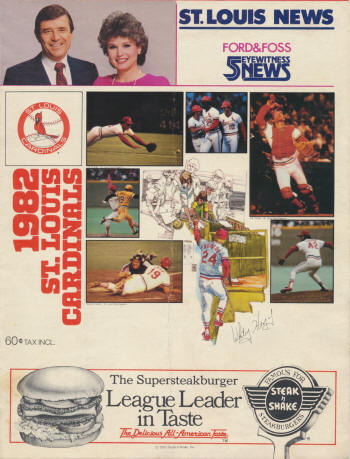 St. Louis Cardinals - 1982 Scorecard