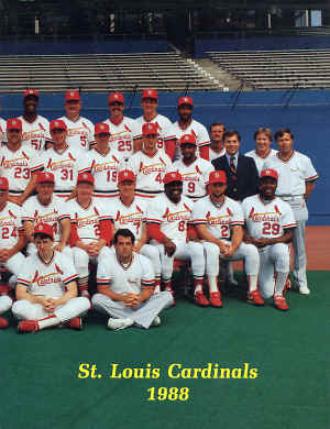 1988 St. Louis Cardinals Offical Yearbook
