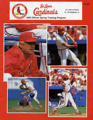 1989 Official Spring Training Program