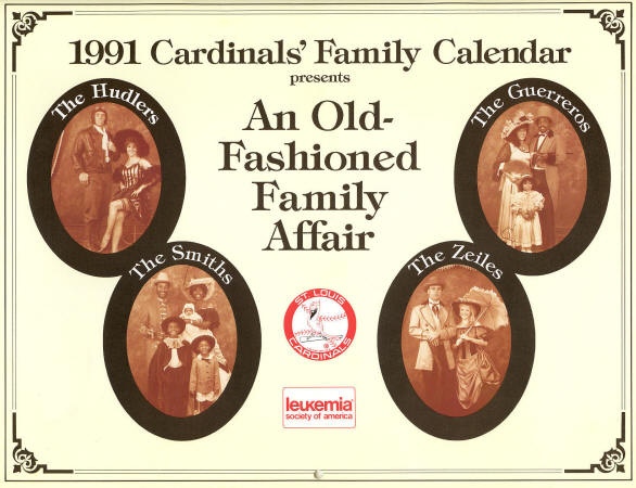 1991 St. Louis Cardinals Family Calendar