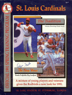 1991 St. Louis Cardinals Spring Training Program