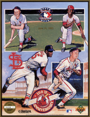 1992 Upper Deck Ltd Edition St. Louis Cardinals Baseball Heros (SGA)