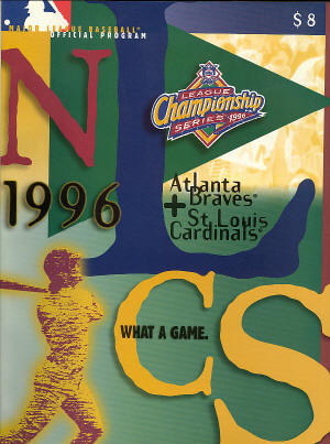 1996 MLB NLCS Official Program
