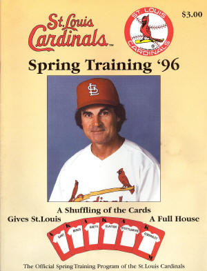 1996 St. Louis Cardinals Official Spring Training Program