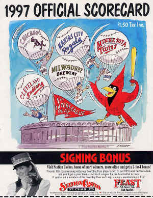 1997 St. Louis Cardinals Official Scorecard