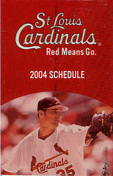 2004 St. Louis Cardinals Pocket Schedule