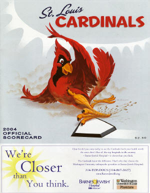 2004 St. Louis Cardinals Scorecard