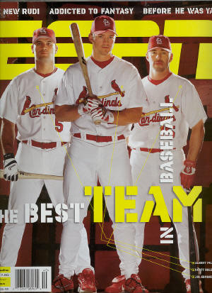 September 27th, ESPN - Albert Pujols, Scott Rolen, Jim Edmonds