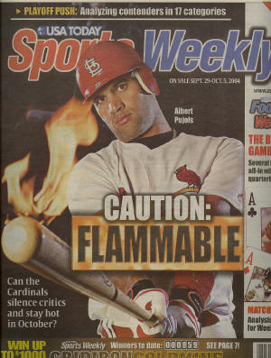 September, Sports Weekly - Albert Pujols