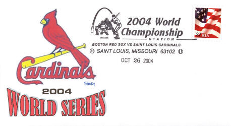 2004 St. Louis Cardinals World Series envelope