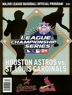 2004 NLCS Program - St. Louis Cardinals & Houston Astros