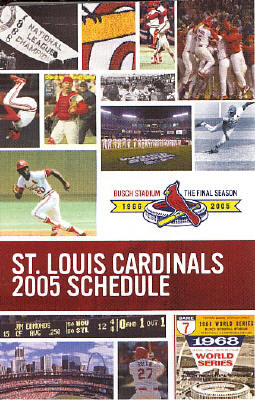 2005 St. Louis Cardinals Schedule