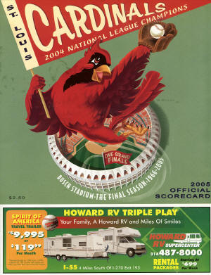 2005 St. Louis Cardinals Scorecard