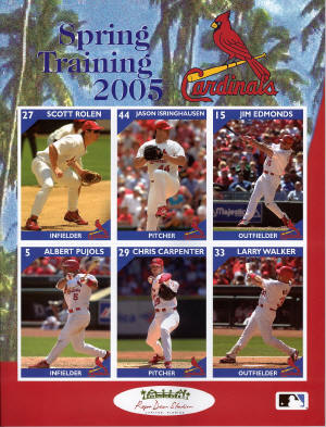 2005 St. Louis Cardinals Official Spring Training program