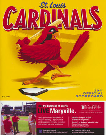 2011 St. Louis Cardinals Scorecard