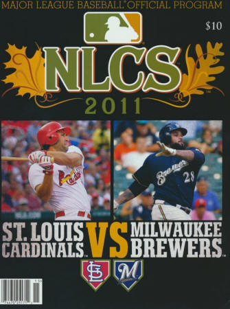 2011 NLCS Program - St. Louis Cardinals