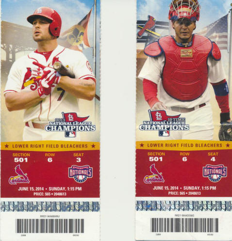 2014 St. Louis Cardinals Tickets