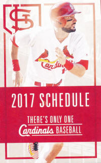 2017 St. Louis Cardinals Pocket Schedule