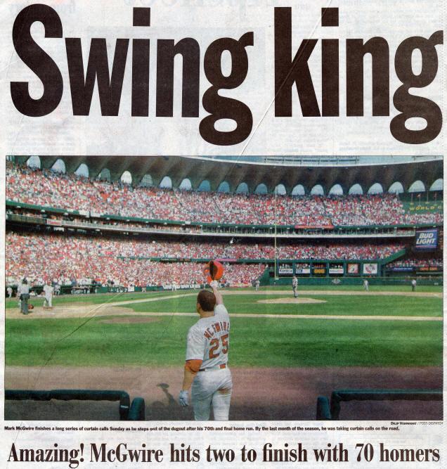 bf4fa55fd St. Louis Post-Dispatch - Mark McGwire - Swing King - 9-28