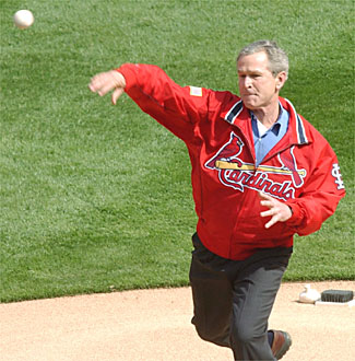 2004 Opening Day - President George W. Bush