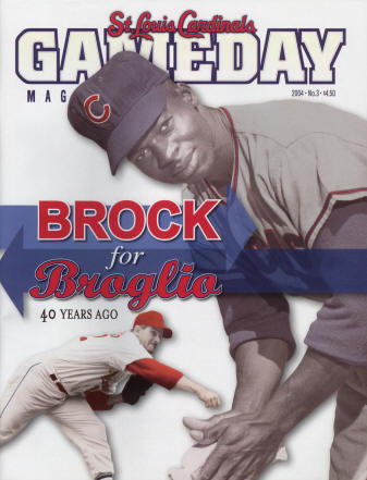 2004 St Louis Cardinals GameDay Magazine Issue #3