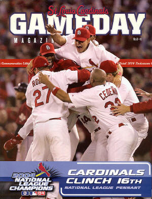 2004 St. Louis Cardinals GameDay magazine