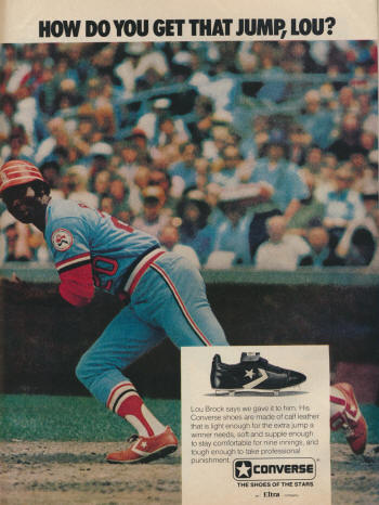 Sports Illustrated - 4/11/77 - Lou Brock advertisement