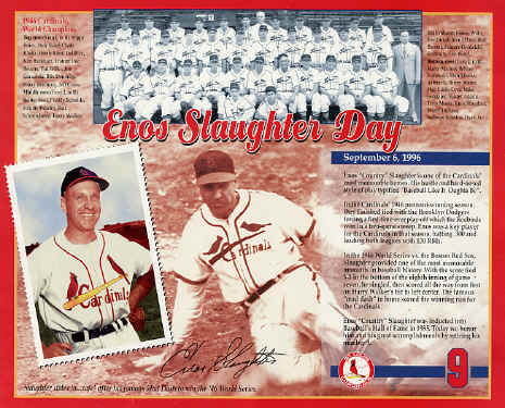 Enos Slaughter Day 9-6-1996