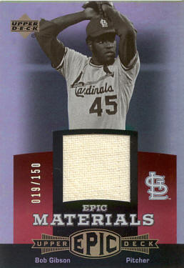 EM-BG2 2006 Upper Deck Epic Materials - Bob Gibson