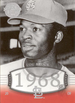 #36 2004 Upper Deck Timeless Teams - Lou Brock