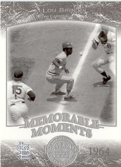 #2 2004 Upper Deck Timeless Teams Memorable Moments - Lou Brock