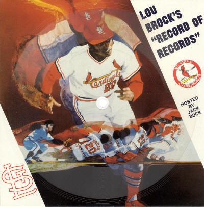 "Lou Brock 45rpm ""Record of Records"" - 1985"