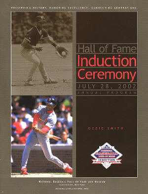 2002 Hall of Fame Induction Ceremony - Ozzie Smith