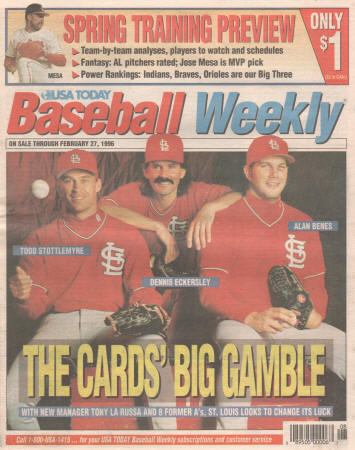 1996 - USA Today Baseball Weekly - Spring Training Preview