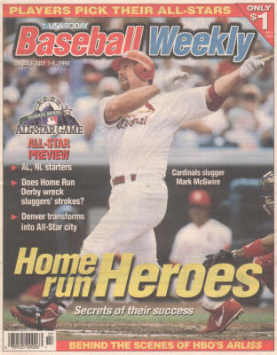 1998 - USA Today Baseball Weekly - Home Run Heros - Mark McGwire