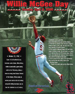 St. Louis Cardinals - Willie McGee Day - 4-9-2000